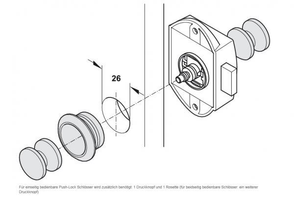 druckknopf push lock kunststoff 13 19 mm. Black Bedroom Furniture Sets. Home Design Ideas